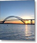 Bayonne Bridge Sunset Metal Print