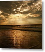 Beach Sunrise Metal Print by Nelson Watkins