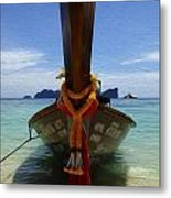 Beauty Of Boats Thailand 1 Metal Print
