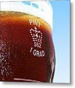 Beer Pint Glass Metal Print