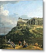 Bellotto's The Fortress Of Konigstein Metal Print