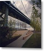 Ben Franklin Bridge Metal Print by Katie Cupcakes
