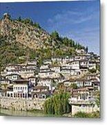 Berat Old Town In Albania Metal Print