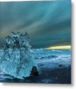 Bergy Bits, Iceland Metal Print