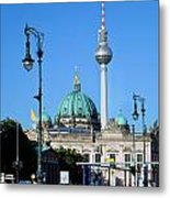 Berlin Cathedral And Tv Tower Metal Print