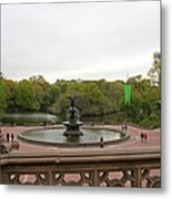 Bethesda Fountain Nyc Metal Print