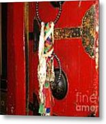 Bhutanese Door Metal Print