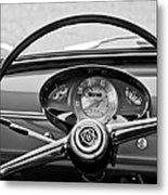 Bianchina Steering Wheel Metal Print