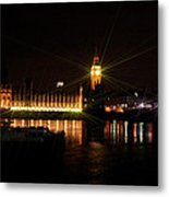 Big Ben And The House Of Parliment On The Thames Metal Print
