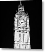 big ben elizabeth clock tower on the houses of parliament London England UK Metal Print