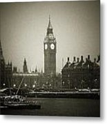 Big Ben On A Wintery Day Metal Print