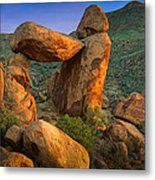 Big Bend Window Rock Metal Print