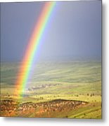 Big Horn Rainbow Metal Print