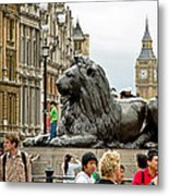 Big Lion Little Ben Metal Print