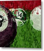 Billiards Abstract Metal Print