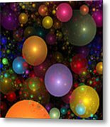 Billions Of Bubbles Metal Print by Peggi Wolfe