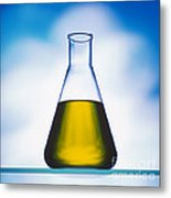 Biodiesel In Erlenmeyer Flask  Metal Print
