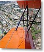 Biplane Over San Diego Metal Print