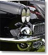 Black Corvette Metal Print