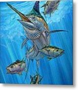 Black Marlin And Albacore Metal Print