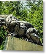Black Panther Statue Metal Print