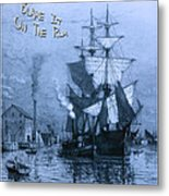 Blame It On The Rum Schooner Metal Print by John Stephens