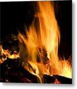 Blazing Campfire Metal Print