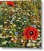 Blossoming Meadow Metal Print