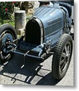 Blue Bugatti Oldtimer Metal Print