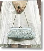 Blue Handbag Metal Print