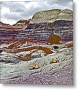 Blue Mesa Trail In Petrified Forest National Park-arizona Metal Print