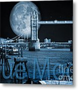 Blue Moon Metal Print by Donald Davis