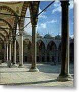 Blue Mosque Courtyard Metal Print