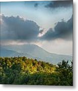 Blue Ridge Parkway Scenic Mountains Overlook Summer Landscape Metal Print