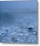 Blue Sea At Sunset Metal Print