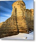 Blue Skies At Monument Rocks Metal Print