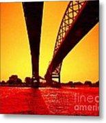 Blue Water Bridge Metal Print