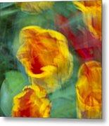 Blurred Tulips Metal Print