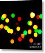 Blurry Colored Lights Metal Print
