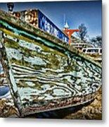 Boat Forever Dry Docked Metal Print