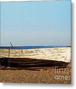 Boat On Shore 02 Metal Print by Pixel  Chimp