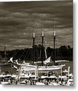 Boat On The River Metal Print by Jocelyne Choquette