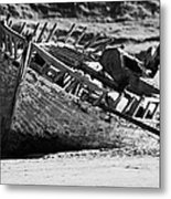 boat wreck on bunbeg beach in gweedore gaeltacht county Donegal Republic of Ireland Metal Print