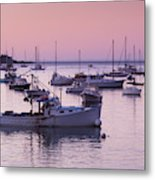 Boats In The Atlantic Ocean At Dawn Metal Print