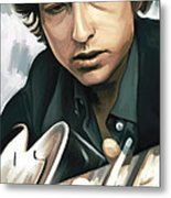 Bob Dylan Artwork Metal Print