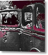 Bonnie And Clyde Death Car South Of Gibsland Toward Sailes Louisiana May 23 1933-2013 Metal Print