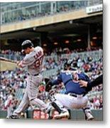 Boston Red Sox V Minnesota Twins Metal Print