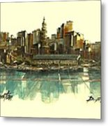 Boston Skyline Metal Print