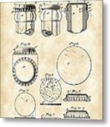 Bottle Cap Patent 1892 - Vintage Metal Print