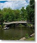 Bow Bridge Central Park Metal Print